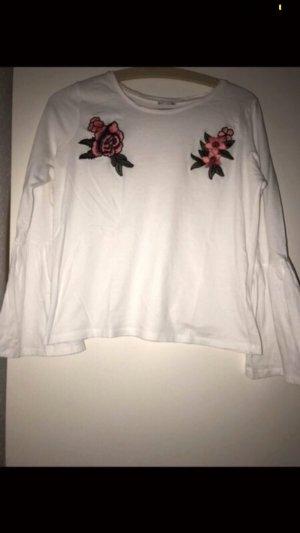 Langarmshirt mit Rosen