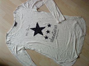 Langarmshirt mit Stern Pailletten Staccato S