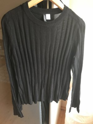 H&M Ribbed Shirt black