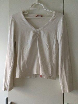 langarmshirt mit v ausschnitt