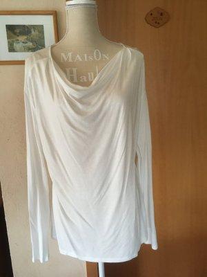Langarmshirt mit Wasserfall Kragen Esprit Collection neu