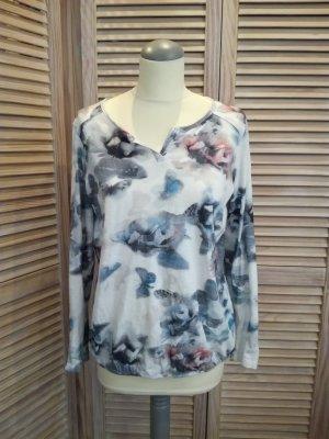Langarmshirt mit zartem Blüten-Print
