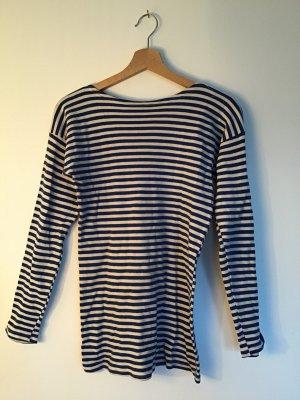 Camisa larga azul neón-blanco