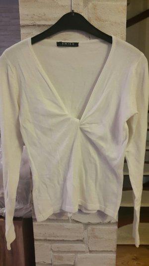 Langarmshirt Pullover Amisu weiß Gr. 34