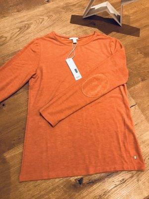 Langarmshirt rost orange