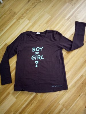 Bellybutton Shirt donkerbruin-babyblauw