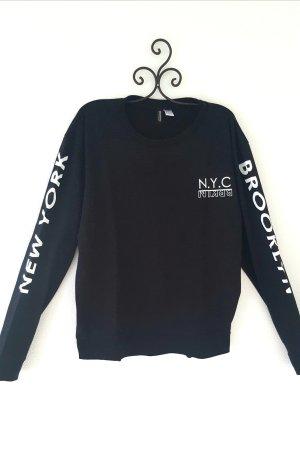 Langarmshirt schwarz mit Print Gr. L