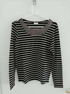 Langarmshirt schwarz-weiß-gestreift von Vila