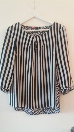 Langarmshirt schwarz/weiß von Comma