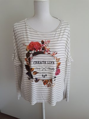 langarmshirt Shirt Streifen Rüschen