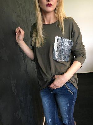 Langarmshirt Strate mit Pailletten