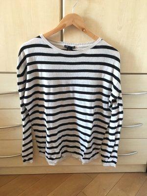 H&M Gestreept shirt wit-zwart