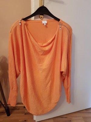 Langarmshirt von Alba Moda orange Größe XS