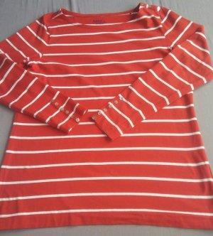 Anne L. Gestreept shirt rood-wit Katoen