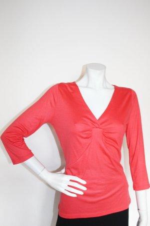 Langarmshirt von Comma, helles rot, mit passendem Schal, Gr. 40