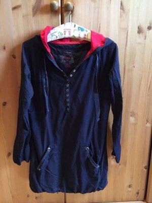 Esprit Top à capuche bleu foncé-rouge foncé