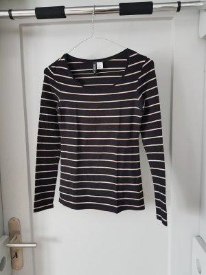 Langarmshirt von H&M mit Streifen in Größe 36