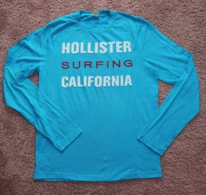 Hollister Camiseta estampada blanco-turquesa