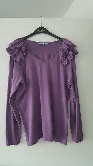 Himmelblau by Lola Paltinger Camisa con cuello V púrpura