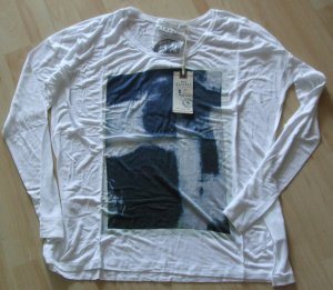 Langarmshirt von Nile - Gr. M - weiß