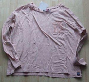 Langarmshirt von Superdry - rosa - Gr. L - NEU