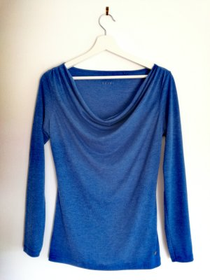 Waterval shirt korenblauw
