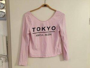 langarmsweatshirt / rosa