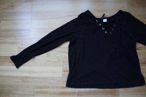 H&M Divided Geribd shirt zwart