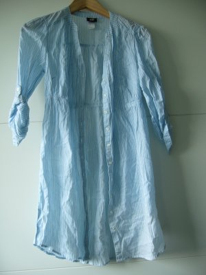 Langbluse Long-Bluse hellblau weiß gestreift H&M XS 34