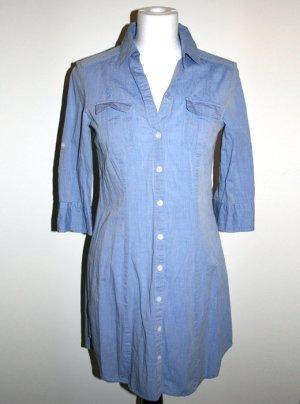 Lange blaue Bluse, H&M, Gr. 36