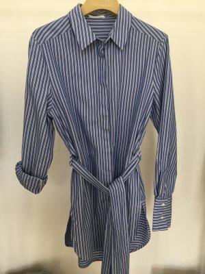 Lange Bluse Blau + Weiß gestreift neuwertig