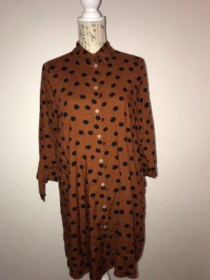 Blusa de manga larga naranja oscuro-negro