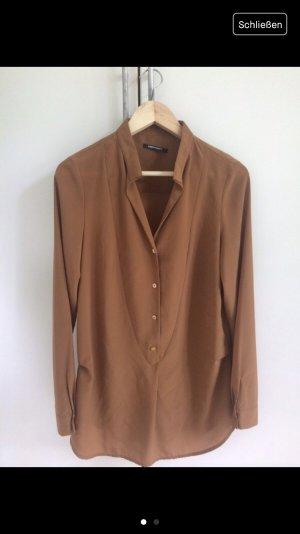 Lange Bluse in Braun Gr. S