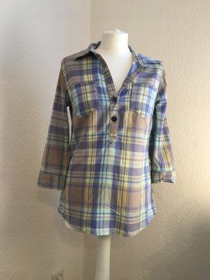 Lange Bluse in Karo-Muster