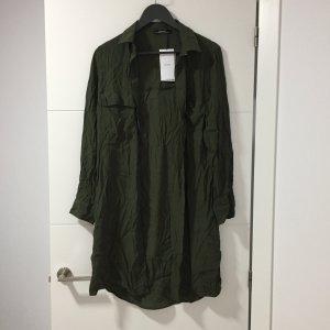 Lange Bluse Kaki / Bershka