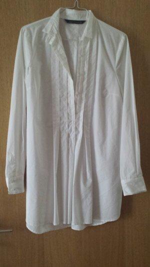 Lange Bluse mit Bügelfalten