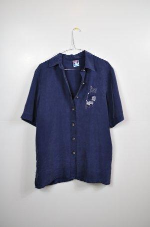 Lange Bluse mit maritimer Stickerei