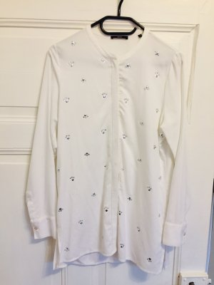 Zero Long Blouse natural white-silver-colored