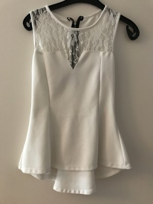 Blusa larga blanco