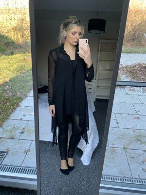 Lange Bluse schwarz