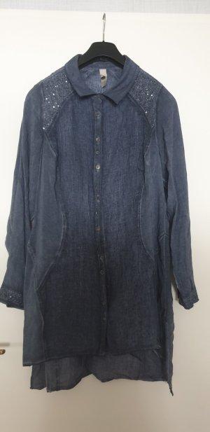 lange Bluse von Tredy mit süßer Knopfleiste Gr. 42