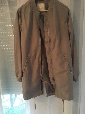 Lange Bomberjacke in Khaki    von Pull&Bear,  wie  neu,  nie getragen