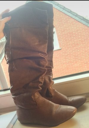Slouch Boots brown