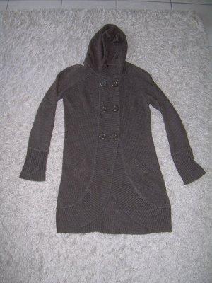 lange dunkelgrüne Strickjacke Cardigan von Fishbone Gr. XL 42