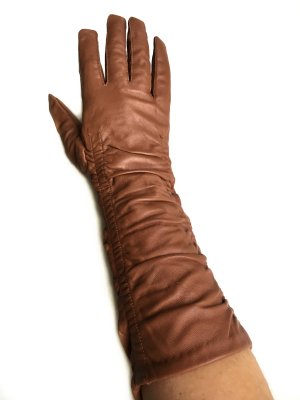 Lange Echtleder Handschuhe