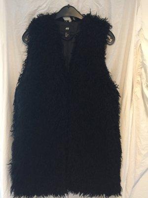 H&M Smanicato di pelliccia nero