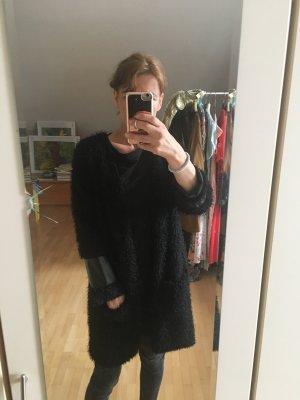 Veste longue noir polyester