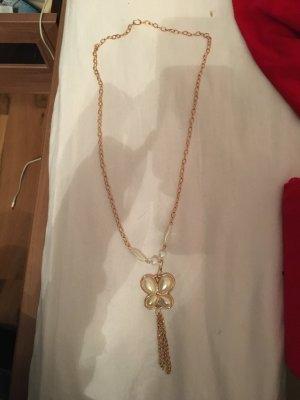 Lange, goldene Halskette