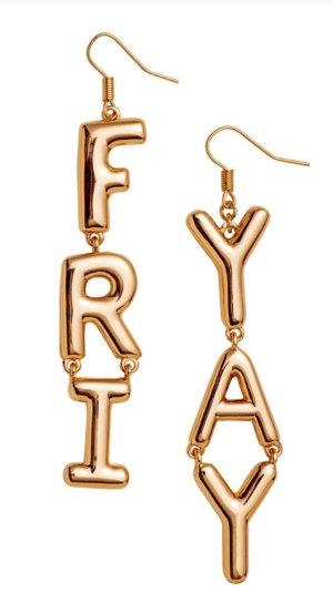 Lange goldene Ohrringe - Friyay / Friday