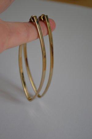 Lange Goldene Statement Ohrringe mit Steckern